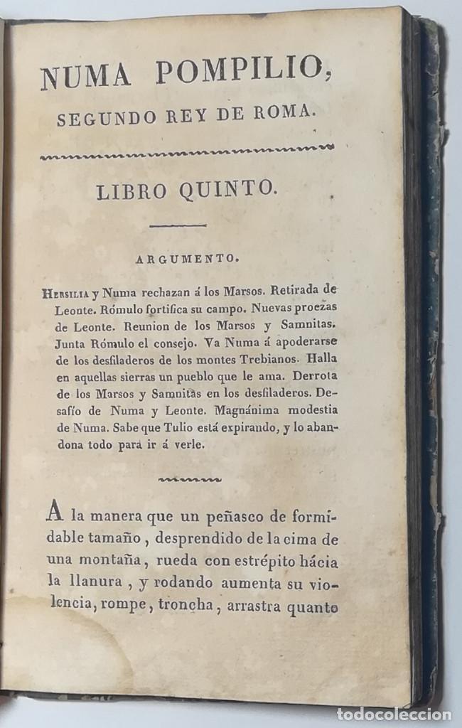Libros antiguos: 2 TOMOS. NUMA POMPILIO, SEGUNDO REY DE ROMA ,POEMA DEL CABALLERO DE FLORIAN. 1818. - Foto 8 - 168048328