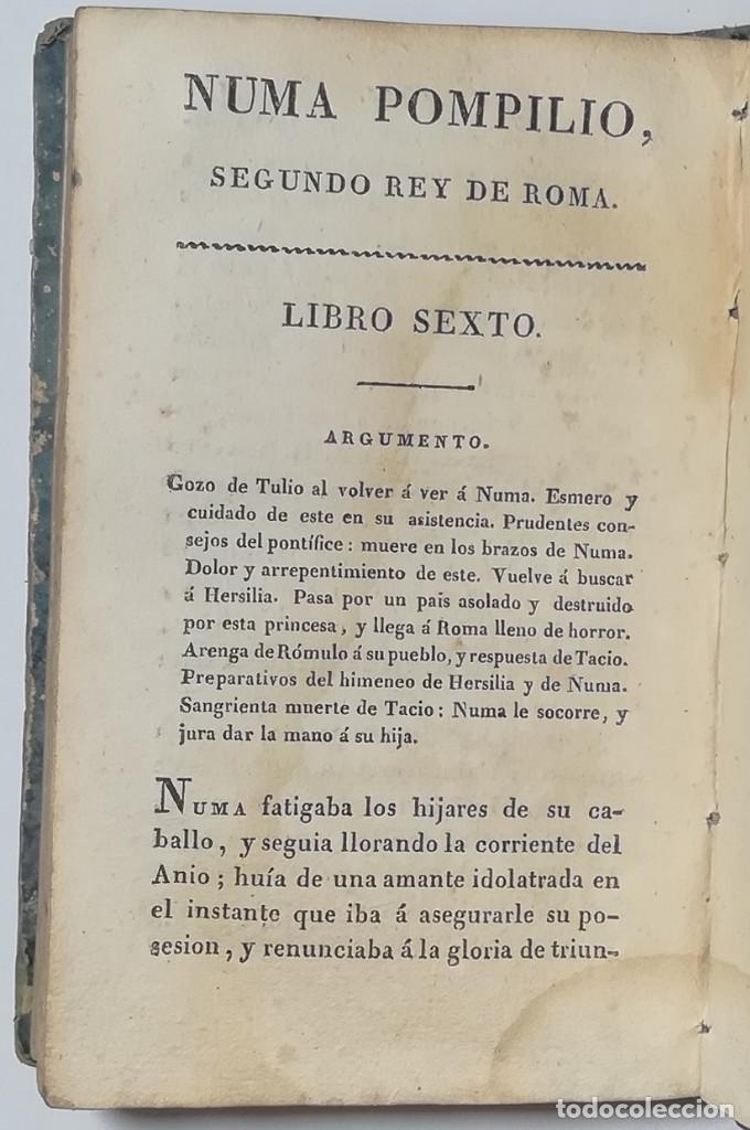Libros antiguos: 2 TOMOS. NUMA POMPILIO, SEGUNDO REY DE ROMA ,POEMA DEL CABALLERO DE FLORIAN. 1818. - Foto 9 - 168048328