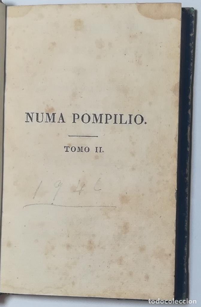 Libros antiguos: 2 TOMOS. NUMA POMPILIO, SEGUNDO REY DE ROMA ,POEMA DEL CABALLERO DE FLORIAN. 1818. - Foto 10 - 168048328