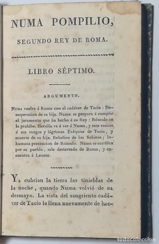 Libros antiguos: 2 TOMOS. NUMA POMPILIO, SEGUNDO REY DE ROMA ,POEMA DEL CABALLERO DE FLORIAN. 1818. - Foto 12 - 168048328