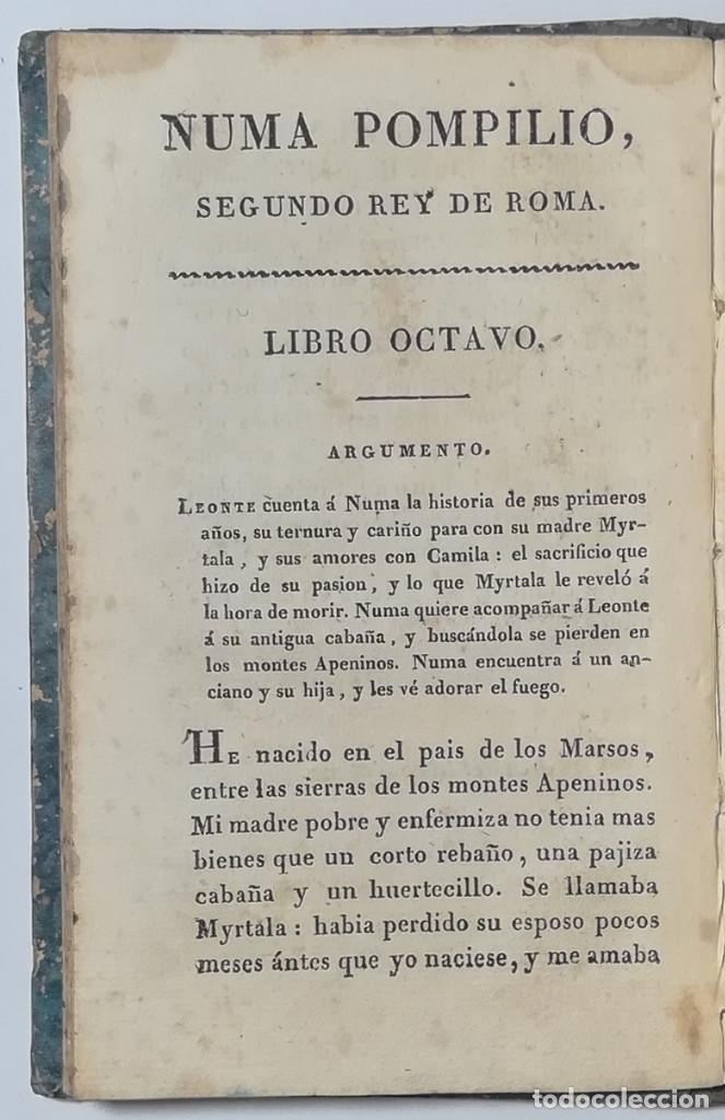 Libros antiguos: 2 TOMOS. NUMA POMPILIO, SEGUNDO REY DE ROMA ,POEMA DEL CABALLERO DE FLORIAN. 1818. - Foto 13 - 168048328