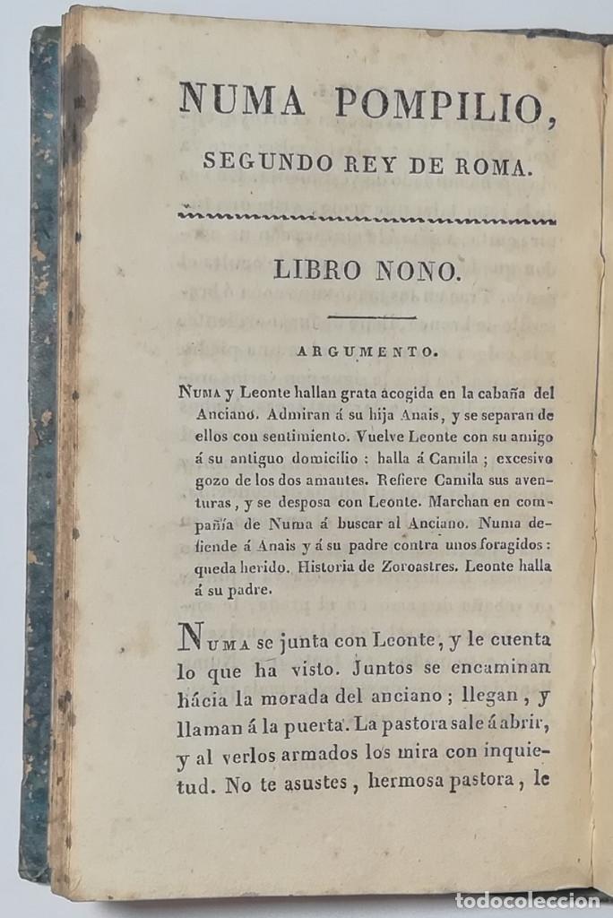 Libros antiguos: 2 TOMOS. NUMA POMPILIO, SEGUNDO REY DE ROMA ,POEMA DEL CABALLERO DE FLORIAN. 1818. - Foto 14 - 168048328