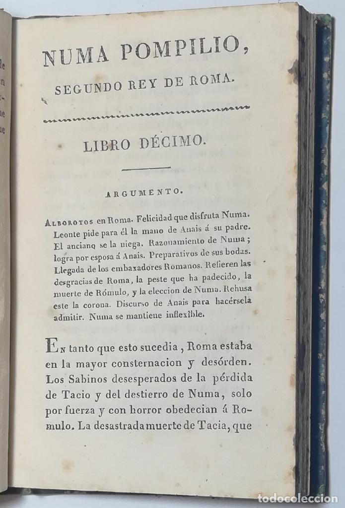 Libros antiguos: 2 TOMOS. NUMA POMPILIO, SEGUNDO REY DE ROMA ,POEMA DEL CABALLERO DE FLORIAN. 1818. - Foto 15 - 168048328