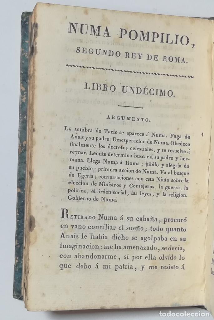 Libros antiguos: 2 TOMOS. NUMA POMPILIO, SEGUNDO REY DE ROMA ,POEMA DEL CABALLERO DE FLORIAN. 1818. - Foto 16 - 168048328