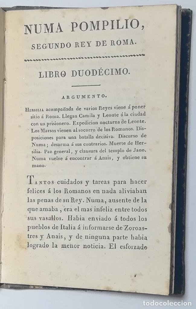 Libros antiguos: 2 TOMOS. NUMA POMPILIO, SEGUNDO REY DE ROMA ,POEMA DEL CABALLERO DE FLORIAN. 1818. - Foto 17 - 168048328