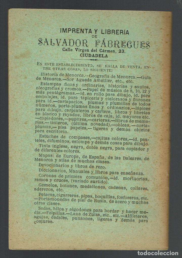 Libros antiguos: HERÓICA DEFENSA DE CIUDADELA DE MENORCA CONTRA LA INVASIÓN SARRACENA EN....... AÑO 1912(MENORCA.2.4) - Foto 2 - 168167564