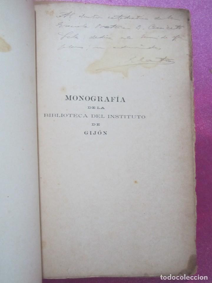 Libros antiguos: ORIGENES BIBLIOTECA DEL INSTITUTO DE JOVELLANOS DEDICADO AUTOR A ANICETO CELA - Foto 11 - 168231336
