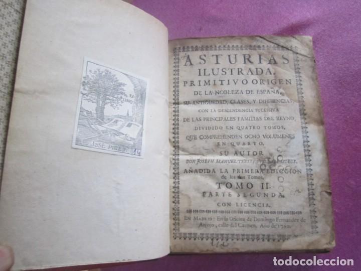 Libros antiguos: ASTURIAS ILUSTRADA MAÑUEL TRELLES TOMO 2 414 PAGINAS AÑO 1760 - Foto 7 - 169128036