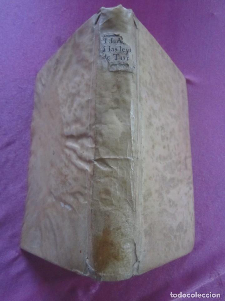 Libros antiguos: LAS LEYES DE TORO MAESTRO CON ESCRITO SANTO OFICIO 1785 .Y EXLIBRIS EXCELENTE - Foto 5 - 169227492
