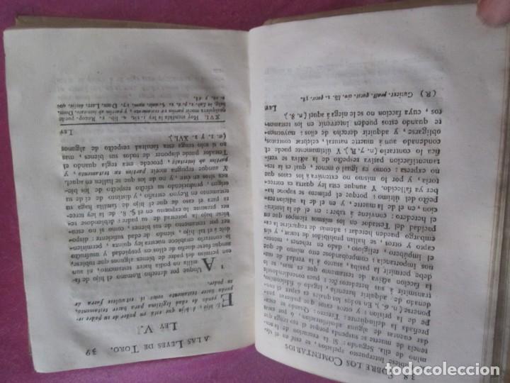 Libros antiguos: LAS LEYES DE TORO MAESTRO CON ESCRITO SANTO OFICIO 1785 .Y EXLIBRIS EXCELENTE - Foto 10 - 169227492