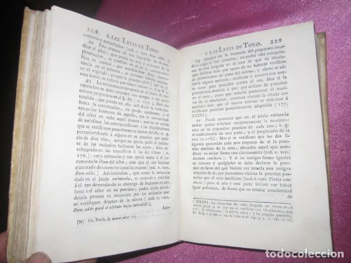 Libros antiguos: LAS LEYES DE TORO MAESTRO CON ESCRITO SANTO OFICIO 1785 .Y EXLIBRIS EXCELENTE - Foto 14 - 169227492