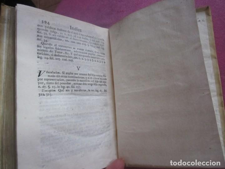 Libros antiguos: LAS LEYES DE TORO MAESTRO CON ESCRITO SANTO OFICIO 1785 .Y EXLIBRIS EXCELENTE - Foto 15 - 169227492