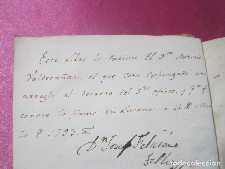 Libros antiguos: LAS LEYES DE TORO MAESTRO CON ESCRITO SANTO OFICIO 1785 .Y EXLIBRIS EXCELENTE - Foto 18 - 169227492