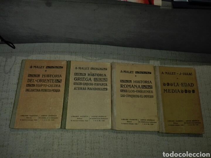 A. MALET. CIRCA 1920. 4 LIBROS: HISTORIA ORIENTE. HISTORIA GRECIA. HISTORIA ROMA. EDAD MEDIA. (Libros antiguos (hasta 1936), raros y curiosos - Historia Antigua)