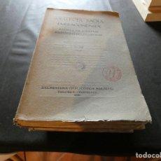 Libros antiguos: TOMO GRAN TAMAÑO ANALECTA SACRA TARRACONENSIA VOLUMEN XXI 1948 BIBLIOTECA BALMES. Lote 170518272