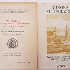 Libros antiguos: GIRONA ORÍGENS AL SEGLE XIX, 1978, DEDICATORIA AUTOR. Lote 171669910