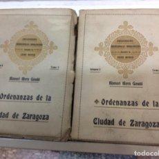Libros antiguos: ORDENANZAS DE LA CIUDAD DE ZARAGOZA. Lote 171702349