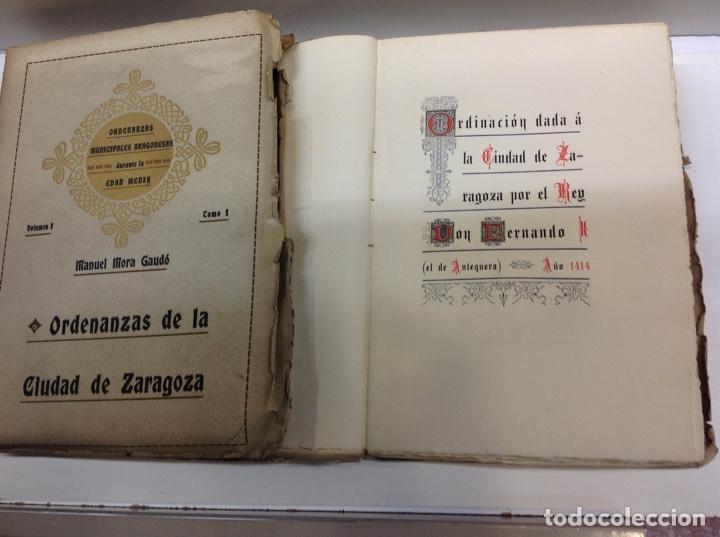 Libros antiguos: ORDENANZAS DE LA CIUDAD DE ZARAGOZA - Foto 2 - 171702349