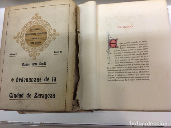 Libros antiguos: ORDENANZAS DE LA CIUDAD DE ZARAGOZA - Foto 3 - 171702349
