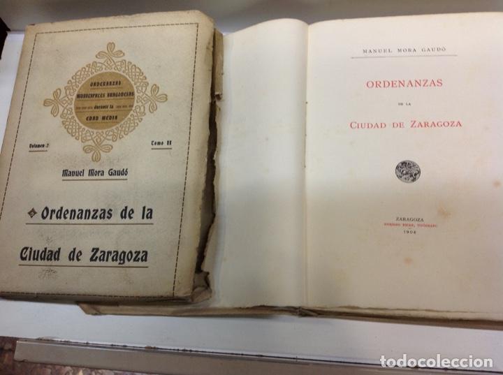 Libros antiguos: ORDENANZAS DE LA CIUDAD DE ZARAGOZA - Foto 4 - 171702349