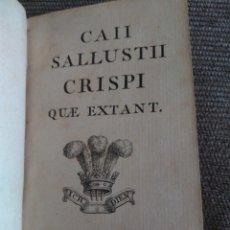 Libros antiguos: 1764. CONSPIRACIÓN Y GUERRA DE CATILINA. CAYO SALUSTIO CRISPO.. Lote 172306898