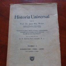 Libros antiguos: HISTORIA UNIVERSAL TOMO 1 CHINA Y JAPÓN .. Lote 172331773