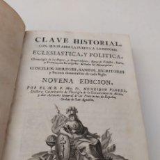 Libros antiguos: LIBRO DE 1776,CLAVE HISTORIAL,CRONOLOGÍA DE PAPAS Y EMPERADORES,REYES,MADRID, SANCHA FELIPE V. Lote 172362053