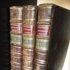 Libros antiguos: MONARQUIA INDIANA - TORQUEMADA - COMPLETA 3 TOMOS - 1723 - PERGAMINO. Lote 173153683