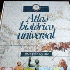 Libros antiguos: ATLAS HISTÓRICO UNIVERSAL - EL PAÍS AGUILAR NUEVO LIBROS ENCICLOPEDIA ATLAS HISTORIA LIBRO AÑO 1995. Lote 173895143