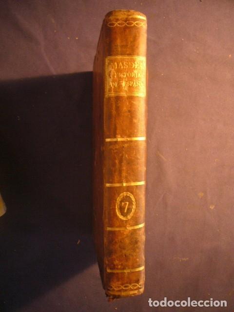 JUAN FRANCISCO DE MASDEU: HISTORIA CRÍTICA DE ESPAÑA Y DE LA CULTURA ESPAÑOLA (TOMO VII L.II) (1789) (Libros antiguos (hasta 1936), raros y curiosos - Historia Antigua)