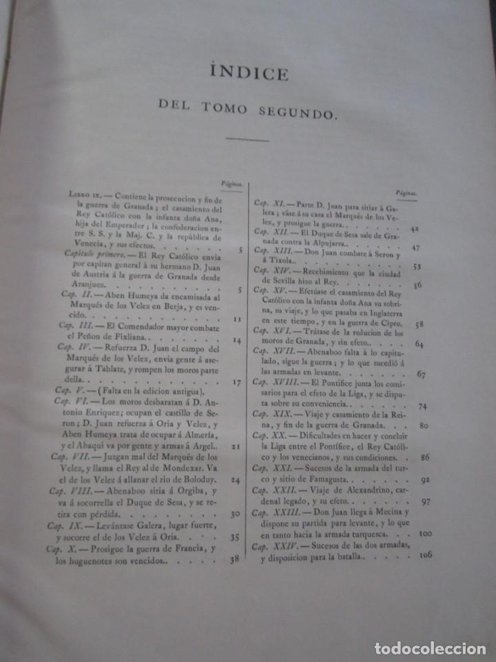 Libros antiguos: HISTORIA DE FELIPE II REY DE ESPAÑA TOMO 2 CABRERA DE CORDOBA 1876 - Foto 8 - 174649139