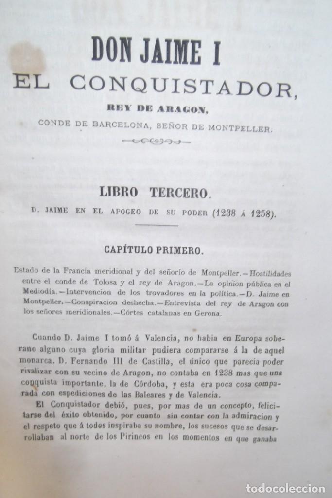 Libros antiguos: ~~ REY DON JAIME I ~~ EL CONQUISTADOR ~~ REY DE ARAGON ~~ CIRCA 1871 ~~ - Foto 10 - 175017103