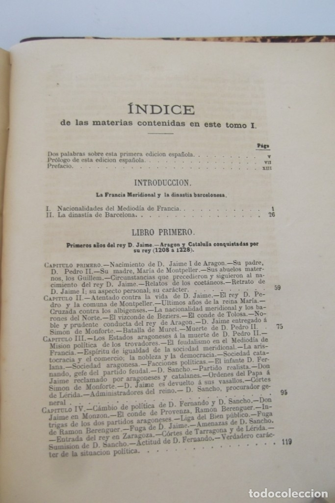 Libros antiguos: ~~ REY DON JAIME I ~~ EL CONQUISTADOR ~~ REY DE ARAGON ~~ CIRCA 1871 ~~ - Foto 14 - 175017103