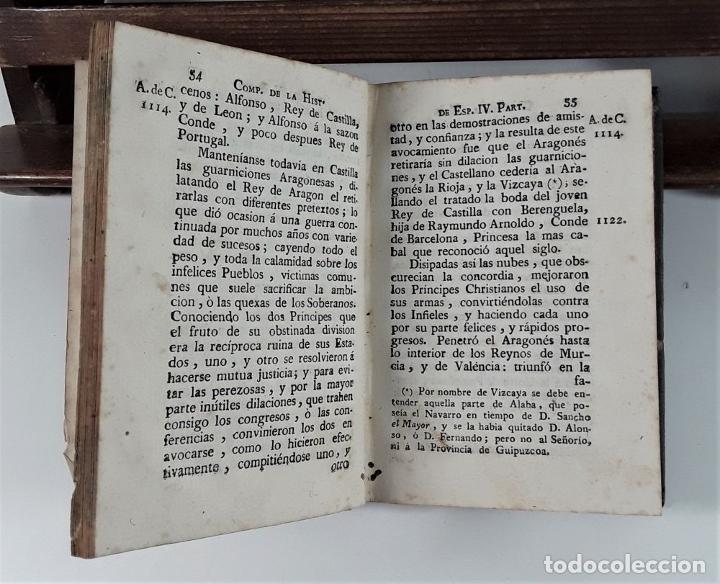 Libros antiguos: COMPENDIO DE LA HISTORIA DE ESPAÑA. TOMO II. IMP. CARLOS Y TURÓ. BARCELONA. 1789. - Foto 5 - 175022704