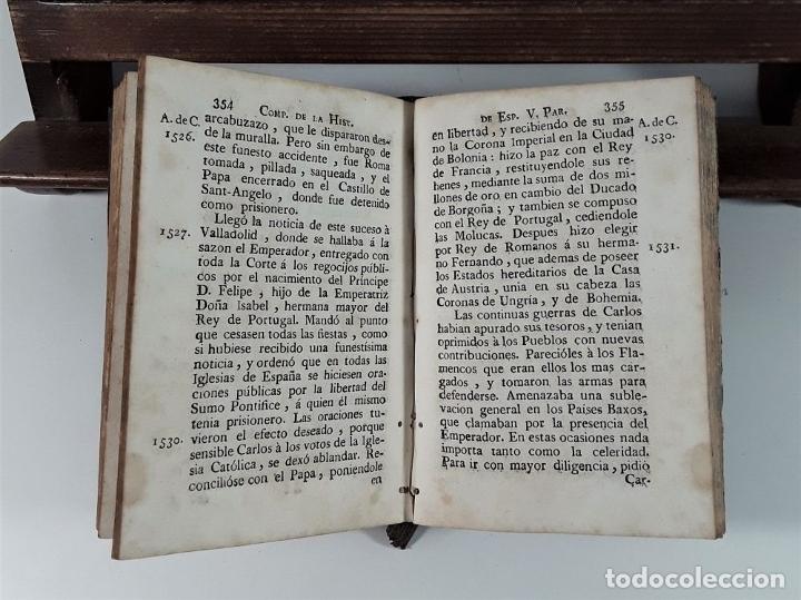 Libros antiguos: COMPENDIO DE LA HISTORIA DE ESPAÑA. TOMO II. IMP. CARLOS Y TURÓ. BARCELONA. 1789. - Foto 6 - 175022704