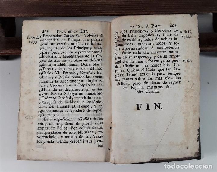 Libros antiguos: COMPENDIO DE LA HISTORIA DE ESPAÑA. TOMO II. IMP. CARLOS Y TURÓ. BARCELONA. 1789. - Foto 7 - 175022704