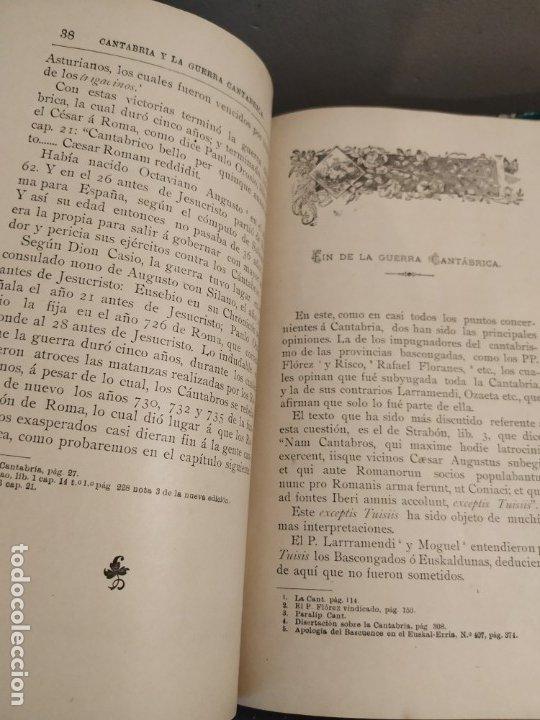 Libros antiguos: CANTABRIA Y LA GUERRA CANTÁBRICA - 1899 - LÓPEZ MENDIZÁBAL CON DEDICATORIA DEL AUTOR. - Foto 5 - 175054790