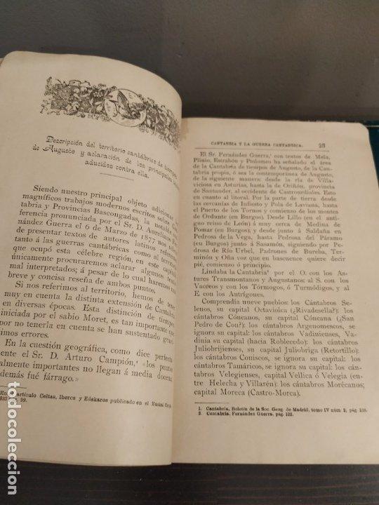 Libros antiguos: CANTABRIA Y LA GUERRA CANTÁBRICA - 1899 - LÓPEZ MENDIZÁBAL CON DEDICATORIA DEL AUTOR. - Foto 7 - 175054790