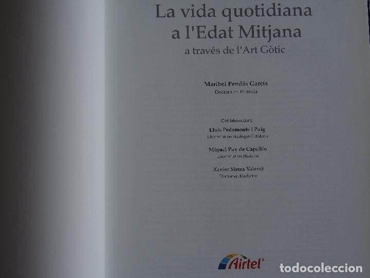 Libros antiguos: La vida quotidiana a lEdat Mitjana a través de lArt Gòtic. Maribel Pendás García - Foto 2 - 175217810