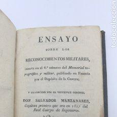 Libros antiguos: ENSAYO SOBRE LOS RECONOCIMIENTOS MILITARES 1829. Lote 175229404