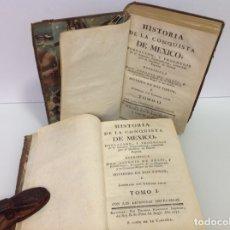 Libros antiguos: HISTORIA DE LA CONQUISTA DE MEXICO ANTONIO DE SOLIS Y RIBADENEYRA 1771 2 TOMOS. Lote 175164617