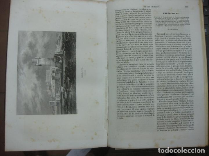 Libros antiguos: HISTORIA PINTORESCA DE LAS CRUZADAS POR MICHAUD Y POUJOULAT. CON DESCRIPCION DE PALESTINA. 1845. - Foto 9 - 132552670