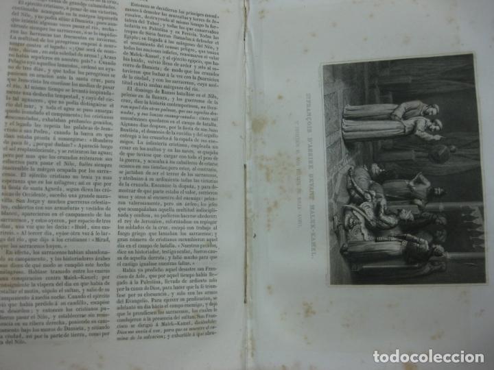Libros antiguos: HISTORIA PINTORESCA DE LAS CRUZADAS POR MICHAUD Y POUJOULAT. CON DESCRIPCION DE PALESTINA. 1845. - Foto 10 - 132552670
