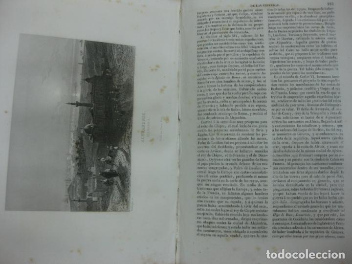 Libros antiguos: HISTORIA PINTORESCA DE LAS CRUZADAS POR MICHAUD Y POUJOULAT. CON DESCRIPCION DE PALESTINA. 1845. - Foto 11 - 132552670