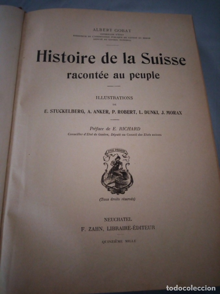 Libros antiguos: histoire de la suisse racontée au peuple par albert goban,ilustrada con hojas desplegables,1899 - Foto 7 - 175263864