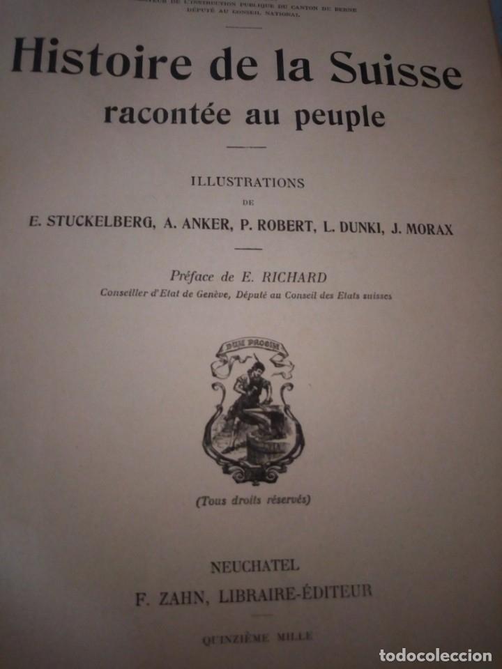 Libros antiguos: histoire de la suisse racontée au peuple par albert goban,ilustrada con hojas desplegables,1899 - Foto 8 - 175263864