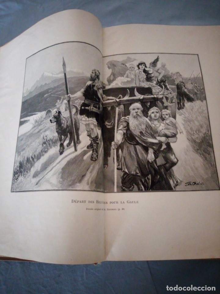 Libros antiguos: histoire de la suisse racontée au peuple par albert goban,ilustrada con hojas desplegables,1899 - Foto 10 - 175263864