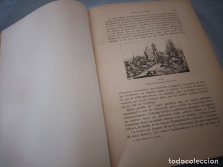 Libros antiguos: histoire de la suisse racontée au peuple par albert goban,ilustrada con hojas desplegables,1899 - Foto 13 - 175263864