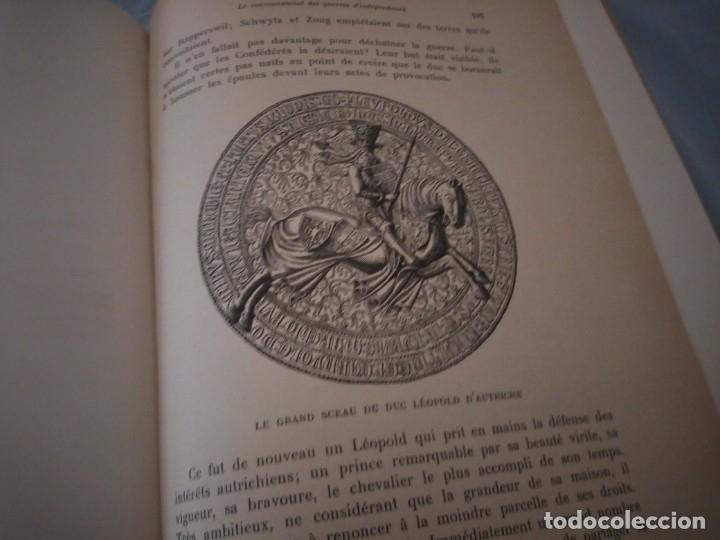 Libros antiguos: histoire de la suisse racontée au peuple par albert goban,ilustrada con hojas desplegables,1899 - Foto 14 - 175263864