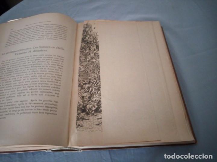Libros antiguos: histoire de la suisse racontée au peuple par albert goban,ilustrada con hojas desplegables,1899 - Foto 16 - 175263864